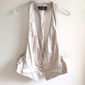 Club Monaco Dressy Vest Ivory Beige Size Medium